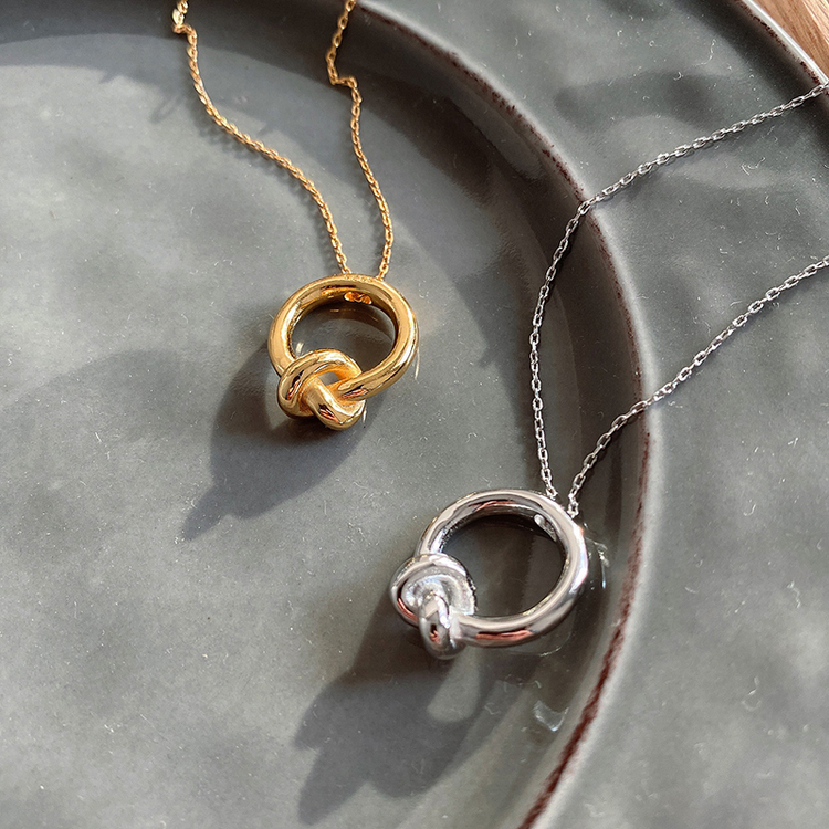 SILVER HALSBAND - Knot