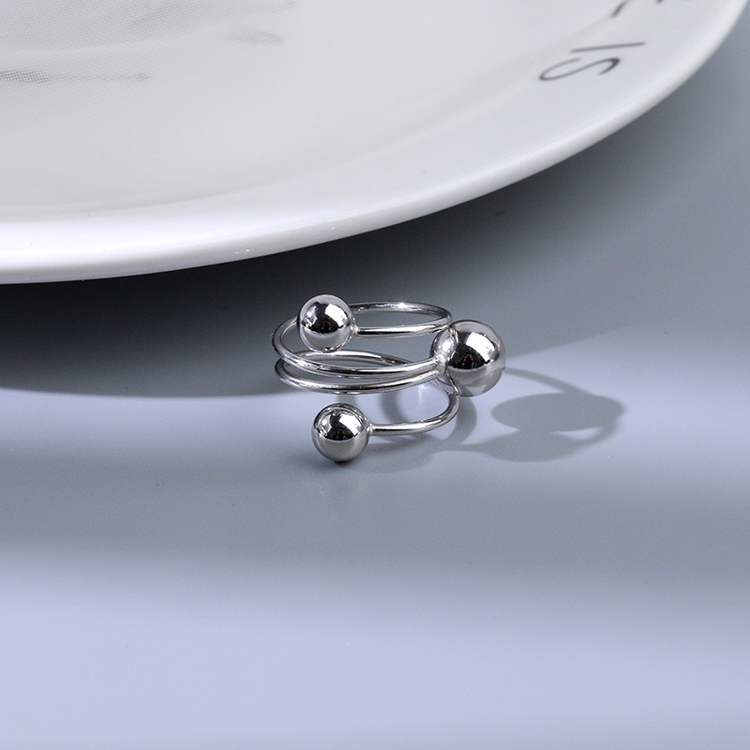 SILVER RING - Jade JR1008040