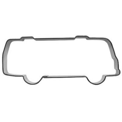 Kakform formad som en buss/plåtis