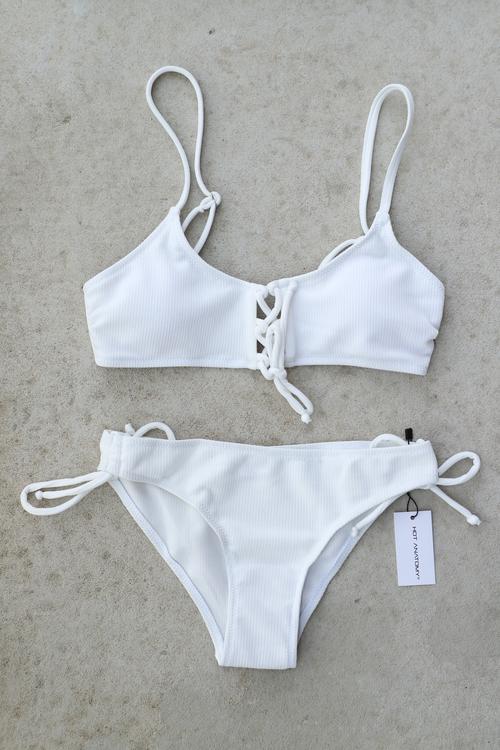 White Bandeau Bikini Set