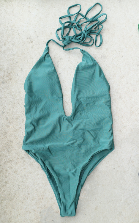 Deep V-Front Swimsuit