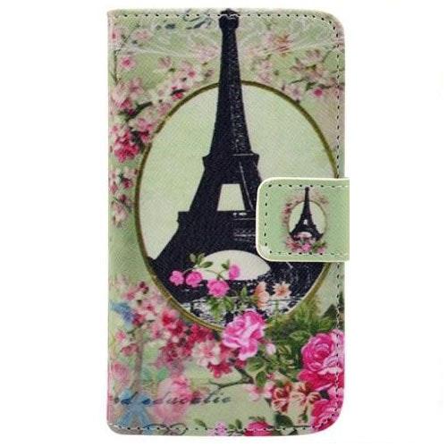 Eiffeltornet blommor - Plånbok till iPhone 4 & 4s