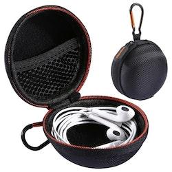 Skyddande fodral i nylon till hörlurar och kablar med karbinhake
