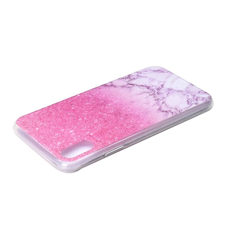 Rosa/vit Marmorskal till iPhone XR