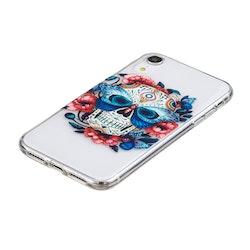 Dödskalle i färg- skal till iPhone XR