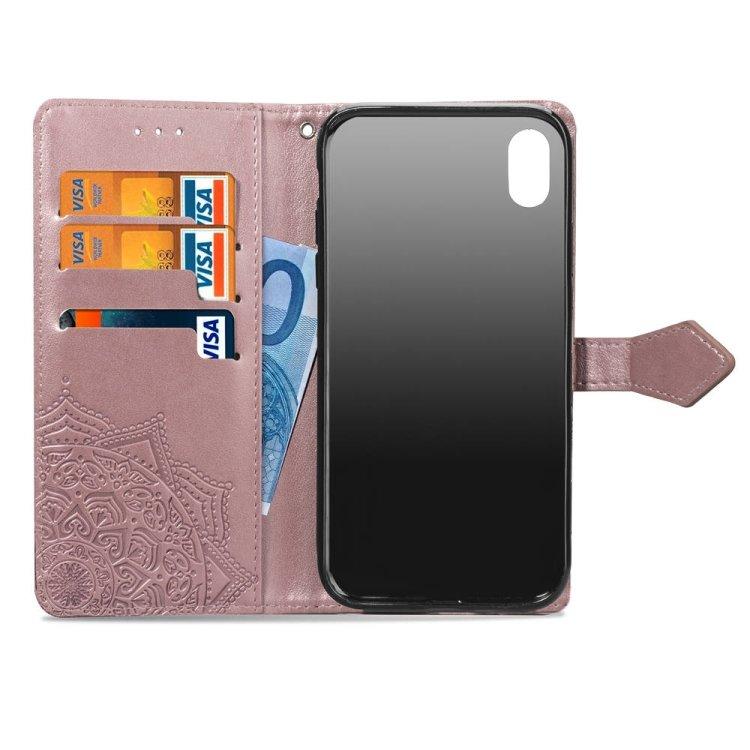 Plånbok med mönster för iPhone XR
