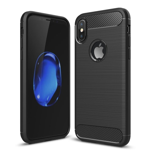 Carbon - Stöttåligt TPU-skal för iPhone X