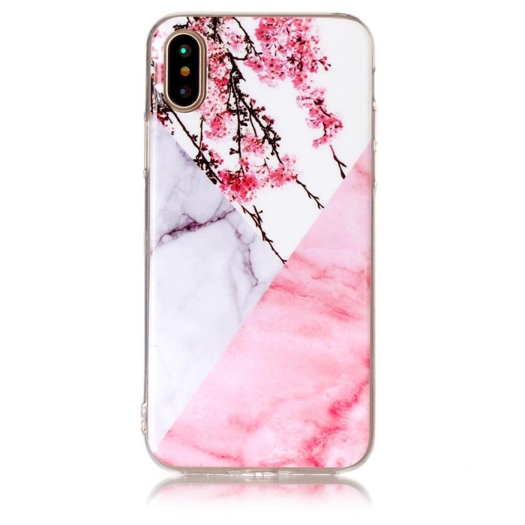 Körsbärsblomma Marmorskal för iPhone X/XS