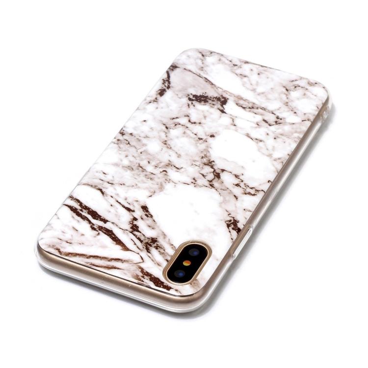 Vitt Marmorskal för iPhone X