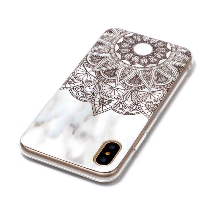Marmor Sten TPU skal för iPhone X/XS