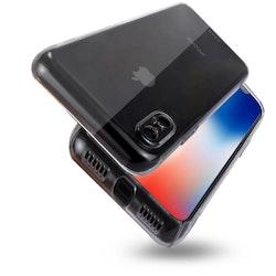 Tåligt Crystal Case med. kameraskydd - iPhone X/XS