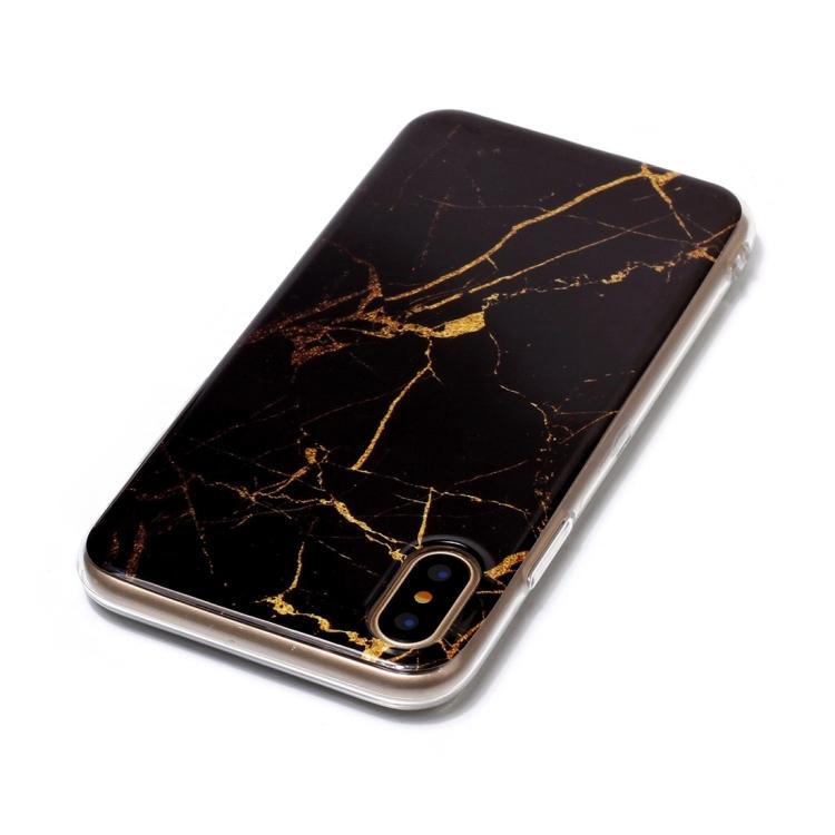 Svart Marmorskal för iPhone X