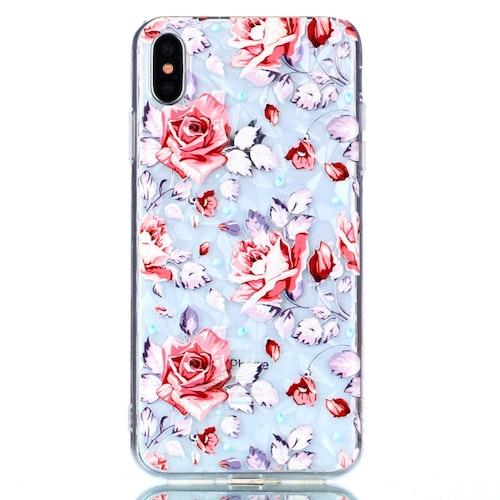 Små färgade blommor -skal för iPhone Xs Max