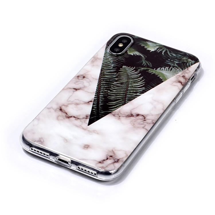 Marmorskal med blad- till iPhone Xs Max