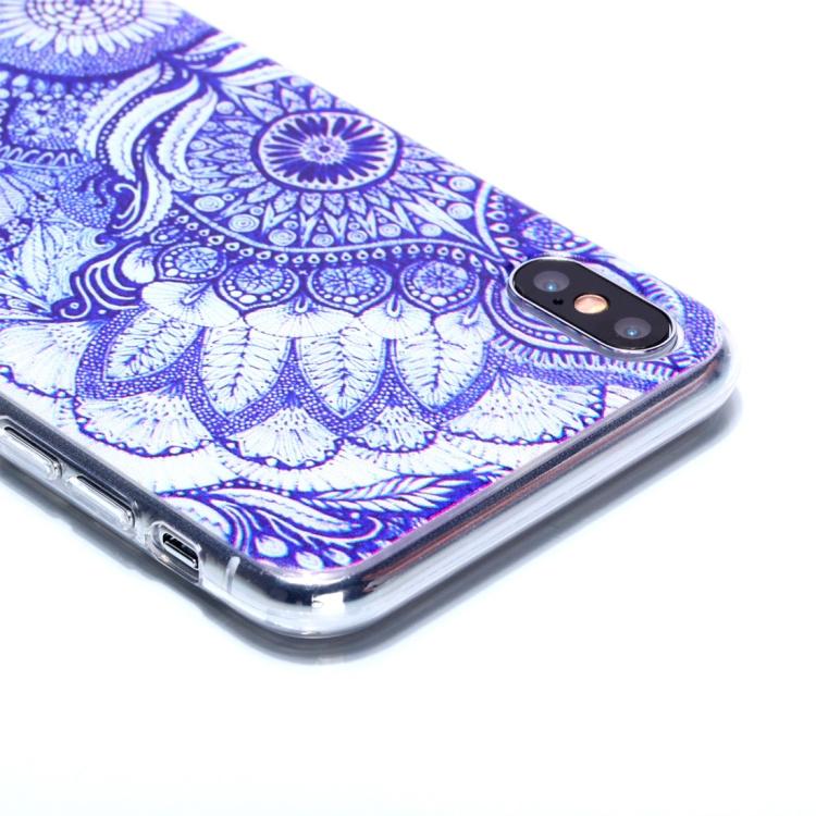 Blått mönstrat skal för iPhone Xs Max