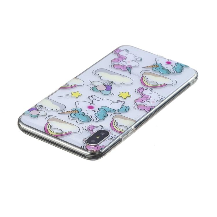 Enhörningar i pastellfärger- skal till iPhone Xs MAX