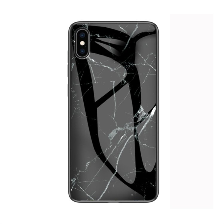 Svart marmorskal - för iPhone Xs Max