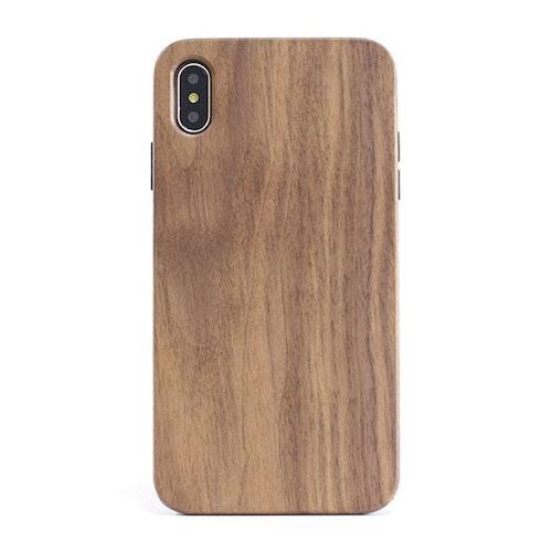 Stöttåligt skal i trä - iPhone Xs MAX