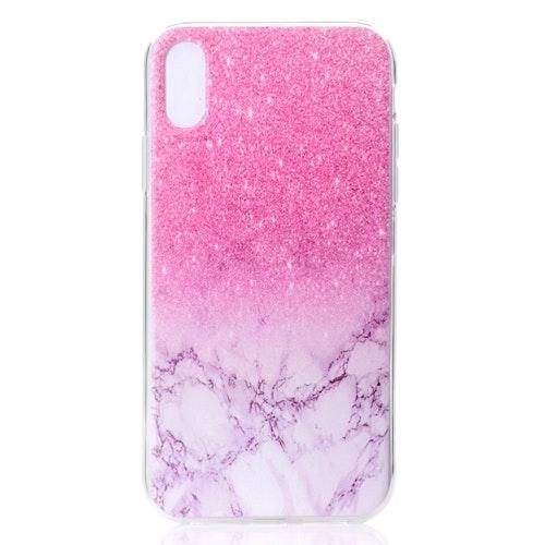 Rosa Marmor- skal för iPhone Xs Max