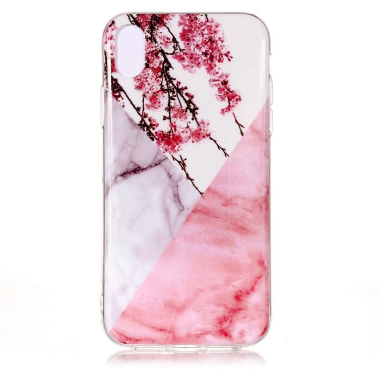 Marmor med körsbärsträd -skal för iPhone Xs Max