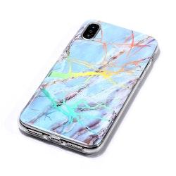 Blå marmor -skal för iPhone Xs Max