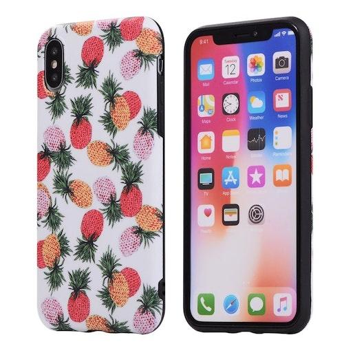 Skal med färgade ananaser- för iPhone Xs Max