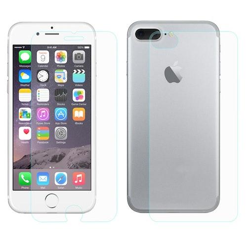 Stöttåligt glas skärmskydd + glas baksida- iPhone 7/8 Plus