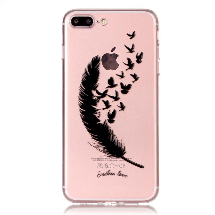 Skal med blåsande fjäder - iPhone 7/8 plus