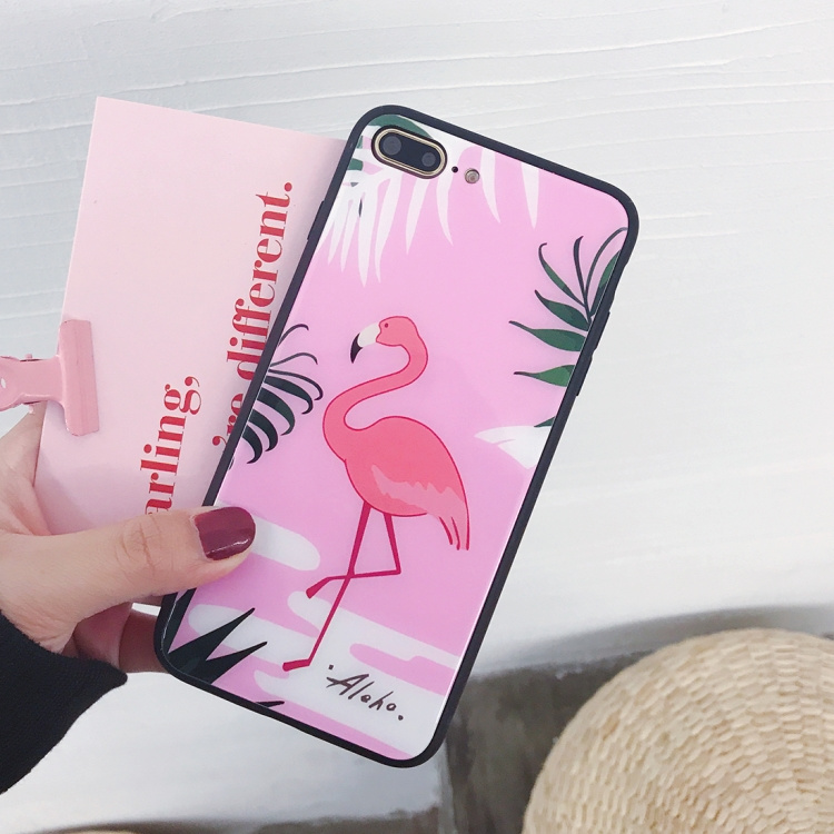 Flamingo-skal för iPhone 7/8 plus