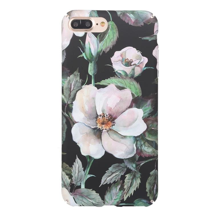 Vit blomma- skal för iPhone 7/8 plus