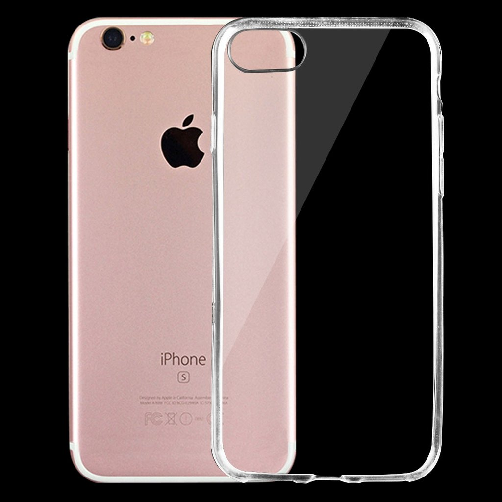 Transparent 0.75mm TPU-skydd- iPhone 7/8