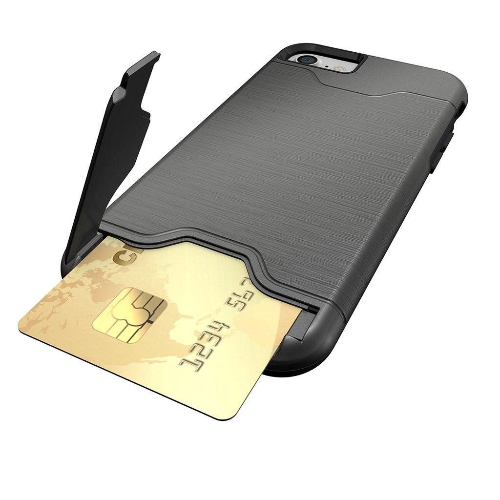 iPhone 7/8 - Stöttåligt Skal med kortficka