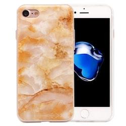 Orange marmor- skal för iPhone 7/8