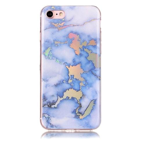 Blått marmorskal - iPhone 7/8