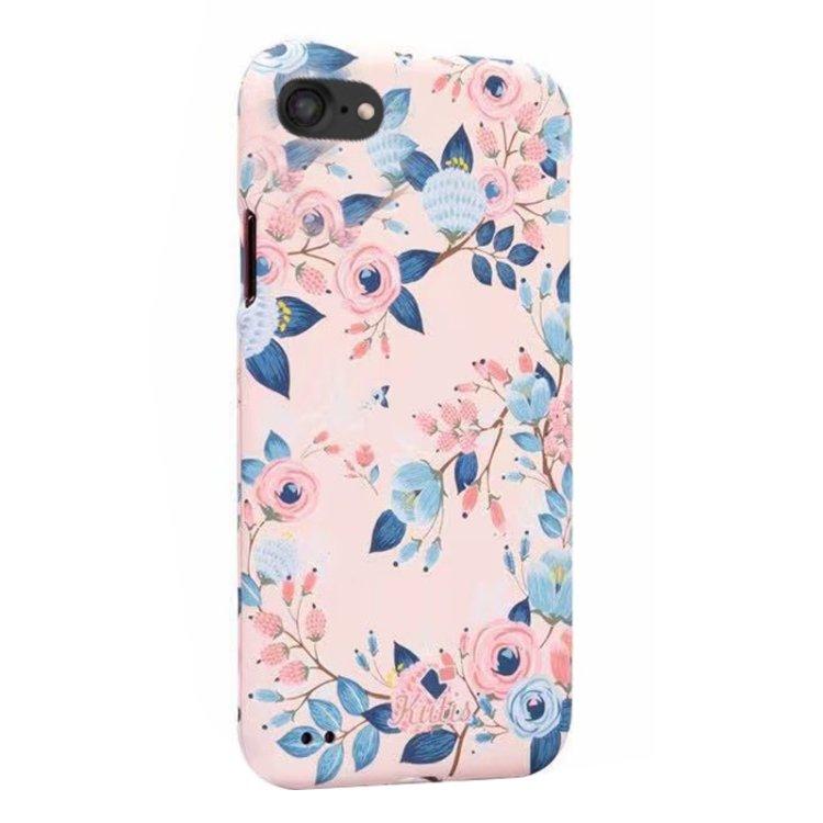 360 gradersskal med blommigt mönster - iPhone 7/8