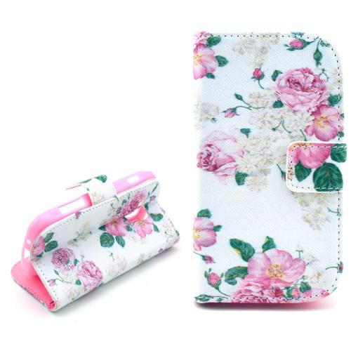 Blommor - Plånbok till Samsung Galaxy Trend Duos