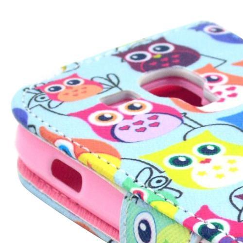Ugglor - Plånbok till Samsung Galaxy Trend Duos