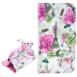 Rosor Eiffeltornet - Plånbok till Samsung Galaxy S3