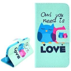 Love Ugglor - Plånbok till Samsung Galaxy S3