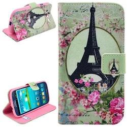 Eiffeltornet blommor - Plånbok till Samsung Galaxy S3