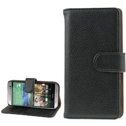 Plånbok med magnetlåsning till HTC One M8 Mini