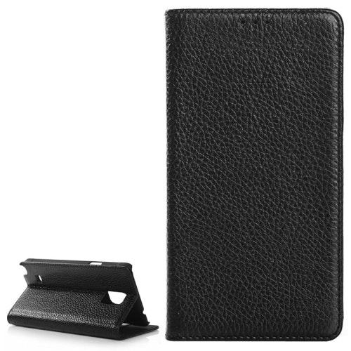 Äkta läder plånbok med kortficka Samsung Galaxy Note Edge