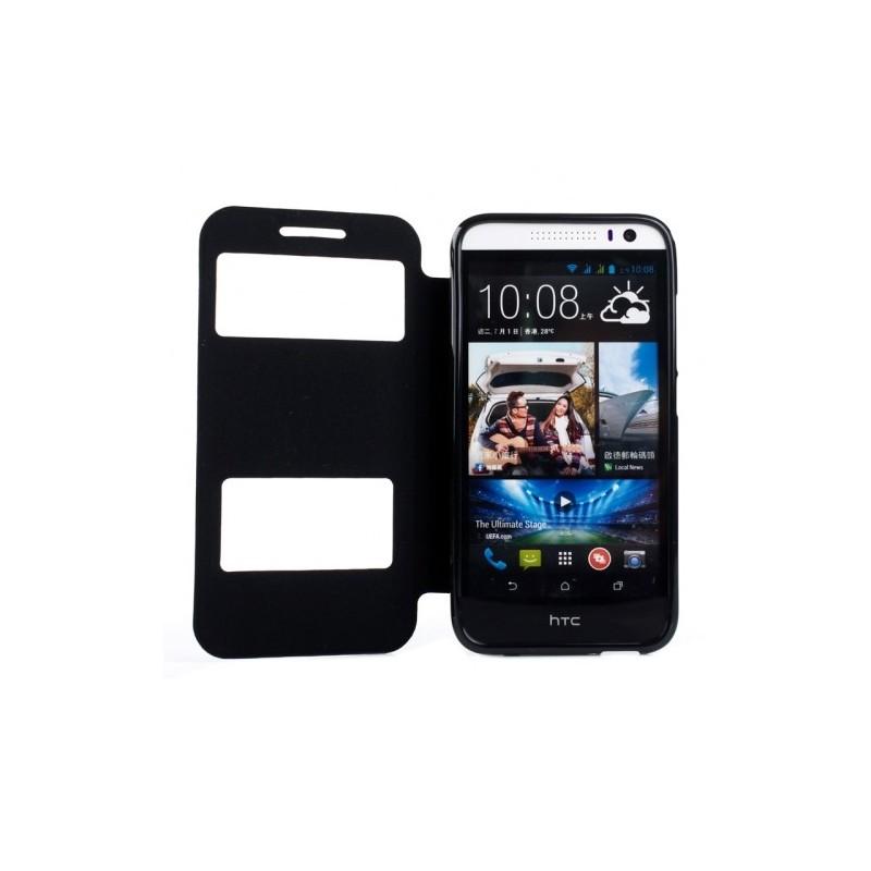 Fodral med fönster & TPU-skydd HTC Desire 616