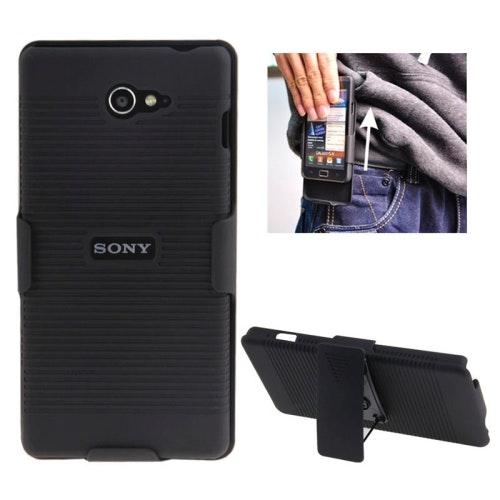 Mobilskal med bältesclip till SONY Xperia M2