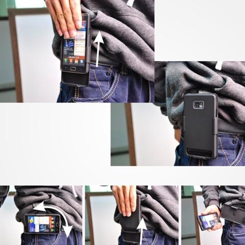 2i1 Mobilskal med bältesclip till SONY Xperia T2 Ultra