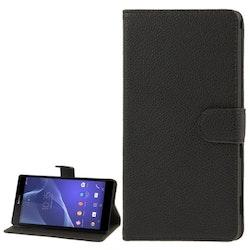 Plånbok av konstläder till Sony Xperia T2 Ultra