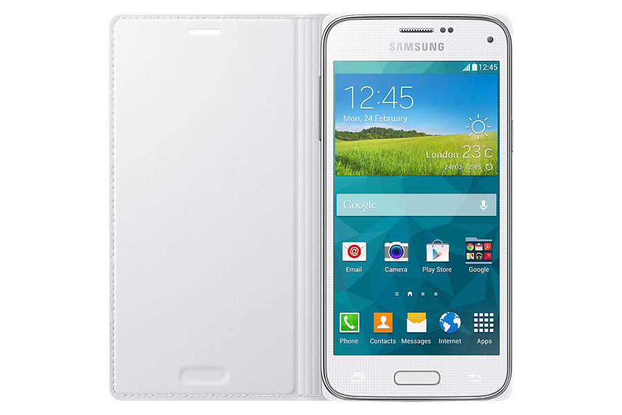 SAMSUNG Galaxy S5 Mini Punch Pattern Flip Cover White