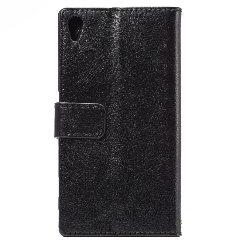Plånbok i konstläder för Sony Xperia Z5
