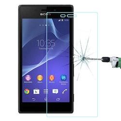 Härdat glas skärmskydd med fasad kant för Sony Xperia M2