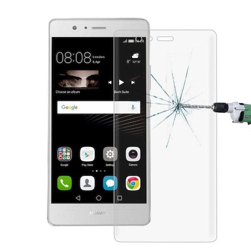 Härdat glas skärmskydd med fasad kant för Huawei P9
